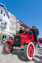 Th rally barcelona sitges second phase race spain march a ford tt firetruck on the of the of ancient cars on march in Royalty Free Stock Images