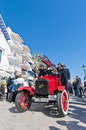 Th rally barcelona sitges second phase race spain march a ford tt firetruck on the of the of ancient cars on march in Stock Image
