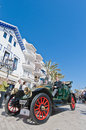 Th rally barcelona sitges second phase race spain march a renault on the of the of ancient cars on march in spain Royalty Free Stock Image