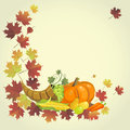 Th sgivingd background for the holiday the day of thanksgiving vector Stock Images
