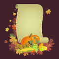 Th sgivingd illustration for the thanksgiving holiday on a braun background Royalty Free Stock Photos