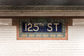 125th Street Subway Station - NYC Royalty Free Stock Photo