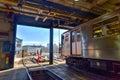 Th street train yard van cortlandt yard bronx new york january for maintenance of trains Royalty Free Stock Images