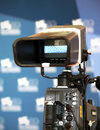 Th venice film festival camera switched on at the red carpet during the on september in italy Stock Images