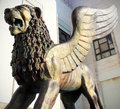 Th venice film festival golden lion statue close up at on september in italy Royalty Free Stock Photography