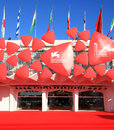 Th venice film festival red carpet view at on september in italy Stock Photo