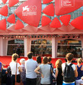 Th venice film festival red carpet view at on september in italy Stock Photos