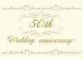 50th Wedding anniversary Invitation beautiful Royalty Free Stock Photo