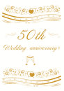 50th Wedding anniversary Invitation   illustration Royalty Free Stock Photo