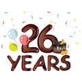 26th years greeting card anniversary