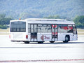 Thai airway bus chiangmai thailand november for ground service photo at chiangmai airport Royalty Free Stock Photography