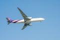 Thai airways plane thailand march from suvarnabhumi airport Stock Image