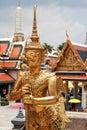 Thai Ancient Decoration at Wat Prakaew Royalty Free Stock Photo