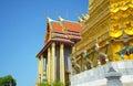 Thai architecture demon guardian at wat phra kaew grand palace bangkok thailand with guardians Stock Image