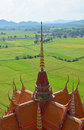 Thai architecture on the roof of the temple Royalty Free Stock Photo