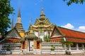 Thai architecture in Wat Pho at Bangkok, Thailand