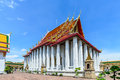 Thai architecture in Wat Pho at Bangkok, Thailand Royalty Free Stock Photo