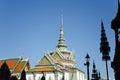 Thai architecture at wat phra kaew grand palace bangkok thailand with ceramic roof Royalty Free Stock Photo