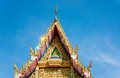 Thai art church s gable a in the morning thailand Royalty Free Stock Image