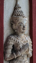 Thai art on Old wall room, Thailand. Stock Photos