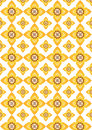 Thai art pattern yellow flowers in Royalty Free Stock Photo