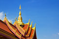 Thai art roof of temple Royalty Free Stock Photo