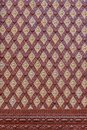 Thai art style repetitive wall patten for background Royalty Free Stock Photo