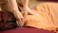 Thai back Massage Royalty Free Stock Photo