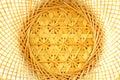 Thai bamboo basket texture