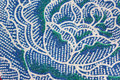 Thai Batik Sarong of Blue Flower pattern.