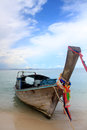 Thai boat in krabi sea at thailand Stock Image