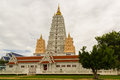 Thai bodhgaya in pattaya under clouds sky area Royalty Free Stock Photography