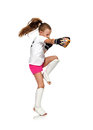 Thai boxing girl Royalty Free Stock Photo