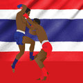 Thai boxing martial art popular around the world Royalty Free Stock Photography