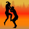 Thai boxing martial art popular around the world Royalty Free Stock Images