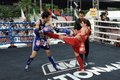 Thai Boxing Match Stock Photos