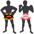 Thai boxing , Muay Thai Royalty Free Stock Photos