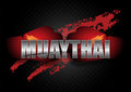 Thai boxing Typo with the Boxing Gloves Royalty Free Stock Photo