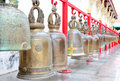 Thai brass bell in temple Royalty Free Stock Images