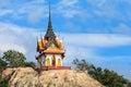 Thai Buddha Footprint Temple Stock Photo