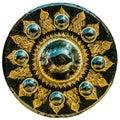Thai Buddhist design on large vintage nipple gong