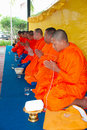 Thai Buddhist Monks Praying Stock Image
