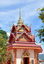 Thai buddhist pavilion style at wat chaiyamangalaram or wat chaiya mangalaram in penang malaysia Stock Photo