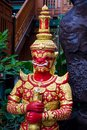 Thai Buddhist Temple Guard Royalty Free Stock Photo