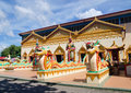 Thai buddhist temple in penang malaysia wat chaiyamangalaram or wat chaiya mangalaram famous for its large indoor reclining buddha Stock Image