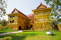 Thai buddhist traditional palace in xishuangbanna china Royalty Free Stock Photos