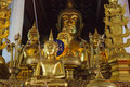 Thai buddist image in the temple Stock Images