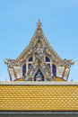 Thai buddist temple gable roof style in thailand Stock Images