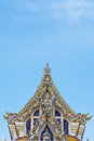 Thai buddist temple gable roof style in thailand Royalty Free Stock Image