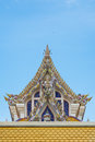 Thai buddist temple gable roof style in thailand Stock Photography
